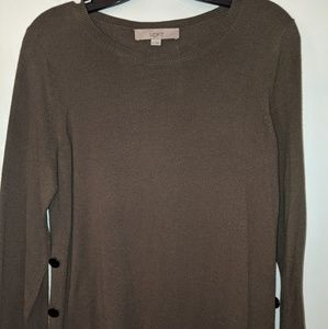 Loft sweater with button detail
